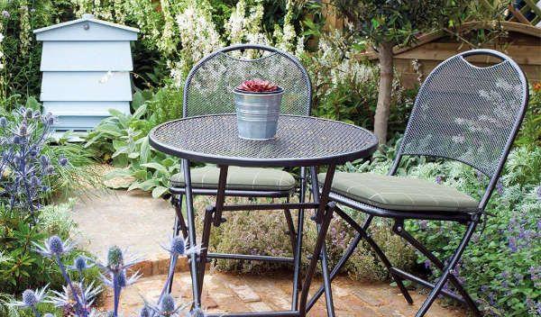 Kettler Caffe Roma Seat Pad Sage Check Set of 2