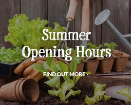 See our Summer Opening Hours